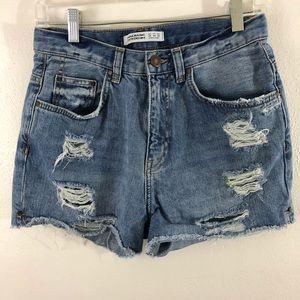Zara Basic Z1975 Denim Jean shorts size USA 4